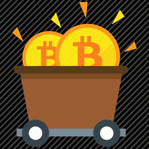bitcoin, cryptocurrency, digital money, mine, mining icon