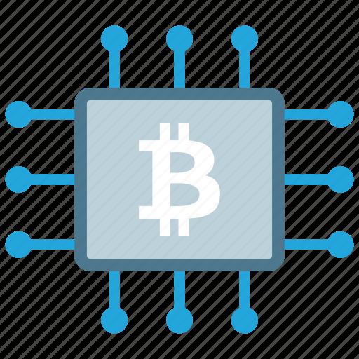 bitcoin, chip, cpu, mining icon