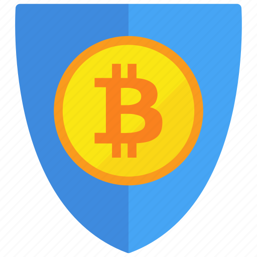bitcoin, protection, secure, shield icon