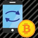 bitcoin, trade, trading icon