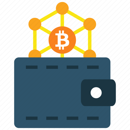 bitcoin, blockchain, cryptocurrency, wallet icon