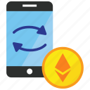 cryptocurrency, ethereum, trade, trading icon