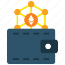 billfold, cryptocurrency, ethereum, wallet icon