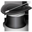 wizard, magic, hat, assistent icon