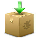 ark, arrow, box, download, dropbox, kde, package icon
