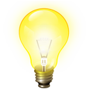idea, light bulb, tip icon