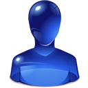 blue user png, head, man, personal, user icon