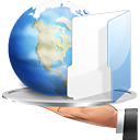 folder, hand, internet, share
