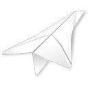 folded, paper plane icon
