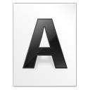 file, font, letter, w icon
