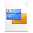 credit card, document icon