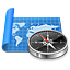 browser, map, navigation, navigator icon