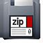 unmount, zip icon