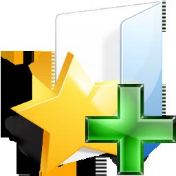 add, bookmark, favorite, folder, plus, star icon