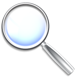 find, magnifying glass, mail icon