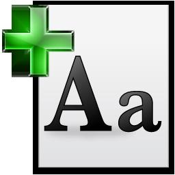 newfont icon