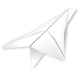 outbox, paper plane icon