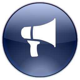 advertisement, announcement, blog, megaphone, notifications, promote icon