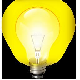 idea, light bulb, tip icon