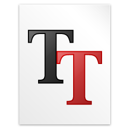 font, truetype icon