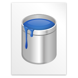 blu paint, document, file icon