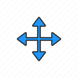arrows, navigate, pointer, scroll cursor icon