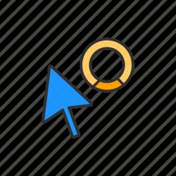 indicator, navigate, pointer, progress cursor icon