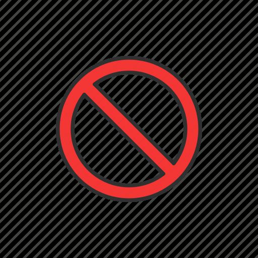 block, circle, no, stop icon