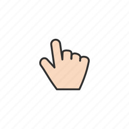 hand, hand pointing, navigate, pointer icon