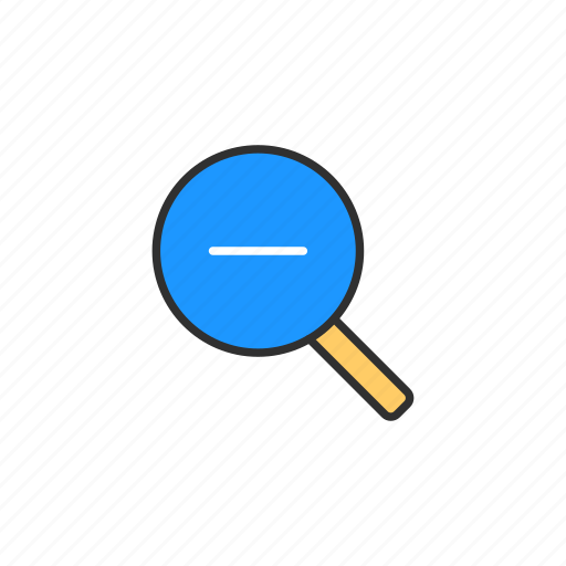 browser, magnifying glass, subtraction, zoom out icon