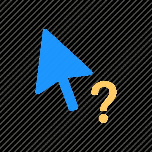 arrow, help cursor, pointer, question mark icon