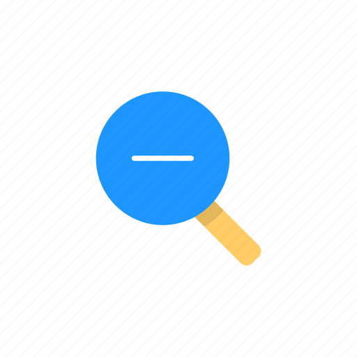 magnifying glass, subtraction, zoom, zoom out icon