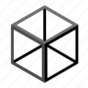 box, cube, frame, hex, wire, line, hexagonal