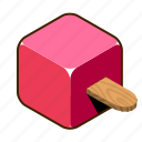 cream, fruit, ice, ice cream, on, stick, sweets icon