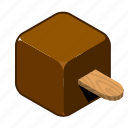 chocolate, cream, ice, ice cream, on, stick, sweets icon