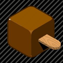 chocolate, cream, ice, ice cream, on, stick, sweets icon