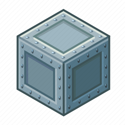 box, container, item, matt, metal, receptacle, rivets icon