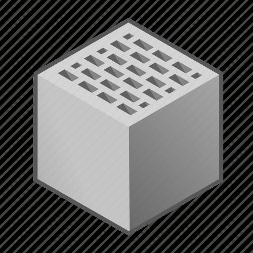 block, brick, building, construction, masonry, one, wall icon