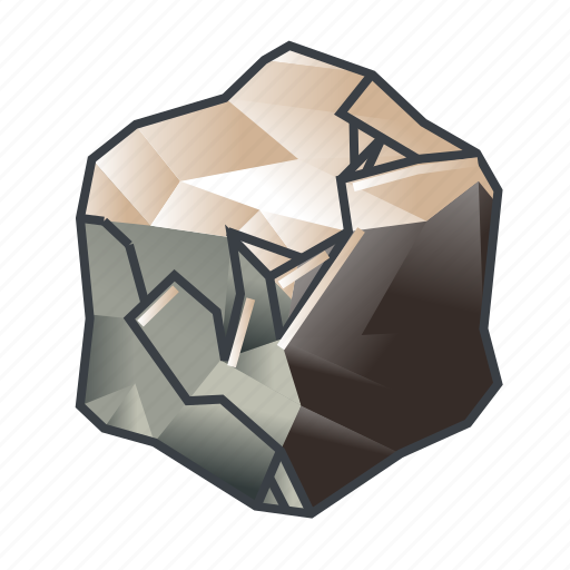 block, broken, crack, cube, rupture, shattered, stone icon