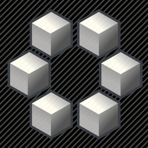 blocks, item, many, parcels, quantity, set, wholesale icon
