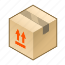 box, carry, cube, package, parcel, reverse, up icon