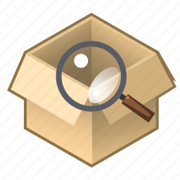 box, check, consignment, contents, cube, pack, serch icon