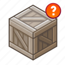 ?, box, chest, crate, crux, cube, unknown icon