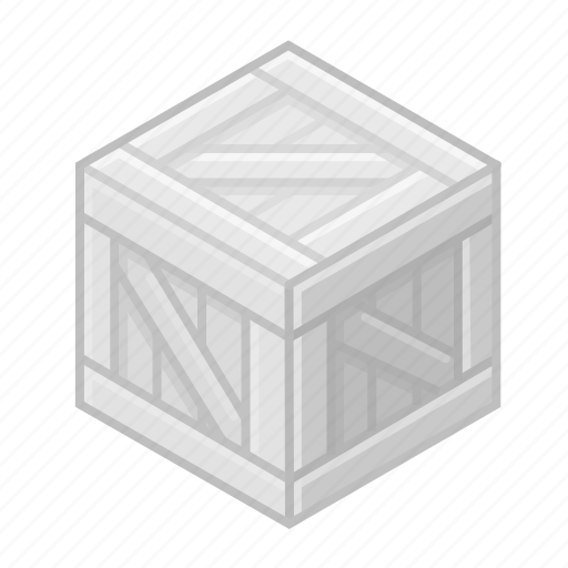 bin, box, case, cube, inactive, poodle, wooden icon