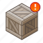 !, box, chest, cube, new, note, warning icon