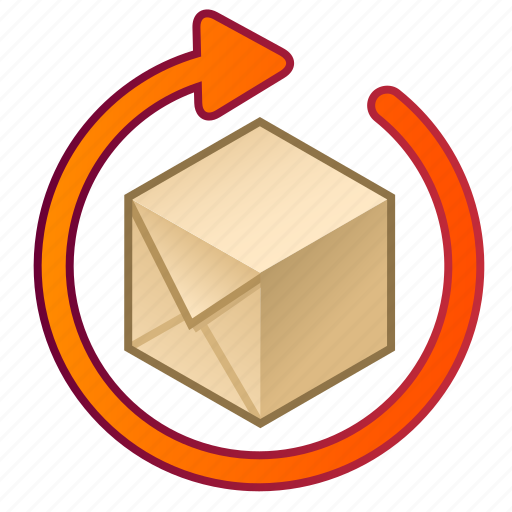 box, cube, expectancy, order, parcel, processing, time icon