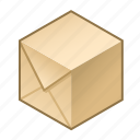 box, cube, goods, package, paper, parcel, wrapped icon