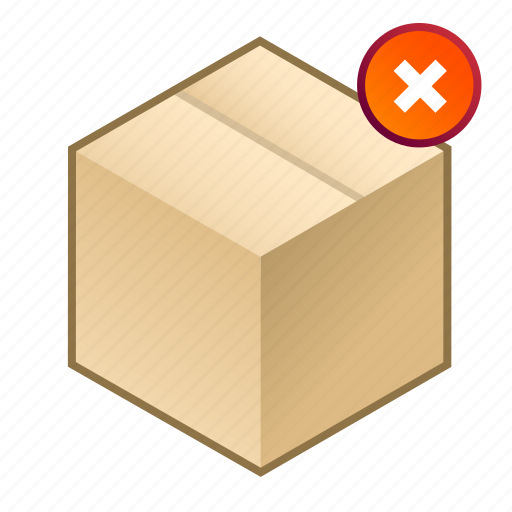 box, close, cube, pack, parcel, remove, shipment icon