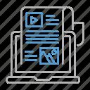 article, blog, interface, news, optimization, seo, web icon