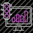 analysis, analytics, bar, chart, growth, traffic icon
